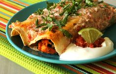 Sweet Potato Enchiladas are filled with fresh ingredients! #healthy #kale #recipes