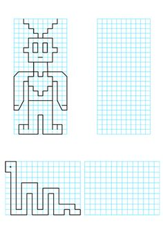 Graph Paper Drawings, Graph Paper Art, Drawing Activities, Preschool Activities, Dots Game, Pixel Drawing, School Clipart, Math Projects, Hidden Pictures
