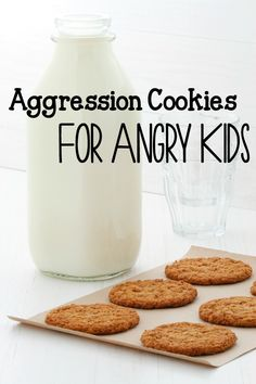 aggression cookies for angry kids. Allergy friendly oatmeal cookies