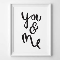You and Me Print Hand drawn Inspirational by OldEnglishCo on Etsy