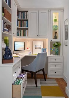 Small Office Spaces On Pinterest Small Home Offices Office Nook  (598×844)