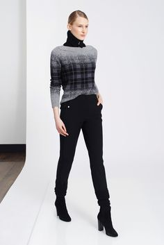 TSE - Fall 2015 Ready-to-Wear - fade out // part pattern // part solid