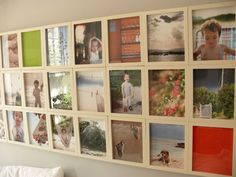 Beautiful and simple photo wall
