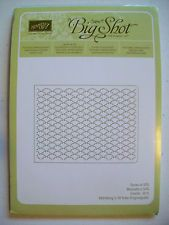 Stampin Up Fancy Fan embossing folder Sizzix Textured Impressions