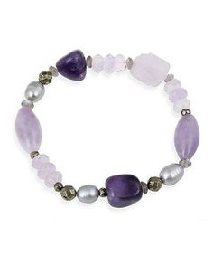 Polish off an outfit with this bracelet to radiate with refined style. Shimmering with exquisite amethysts and sterling silver, it lends ensembles endless shine.