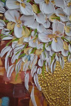 """картина """"в золотой вазе"""" - картина,картина в подарок,акриловые краски"""