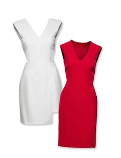 #FashionStar Season 1, Episode 4 Winning Looks: Sarah Parrott  Red and White V-Neck Dress  http://news.instyle.com/photo-gallery/?postgallery=104138#5