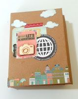 tutorial how to make a vacation mini album from a studio calico PL box