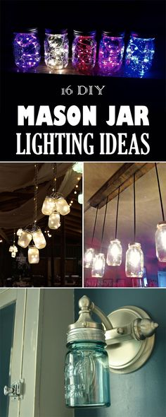 16 Awesome DIY Mason Jar Lighting Ideas