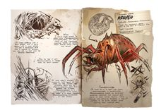 The Araneomorphus, or better known as the Araneo or even simply the Spider, is one of the creatures in ARK: Survival . Dressage, Game Ark Survival Evolved, Spider Species, Survival Books, Giant Spider, Prehistoric Creatures, Magical Creatures, Cursed Child Book, Creature Design