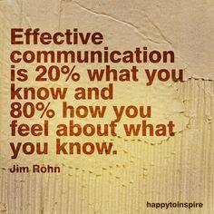 Jim Rohn - the key to effective communication