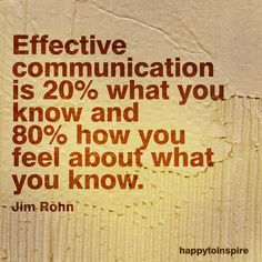 Jim Rohn - the key to effective communication