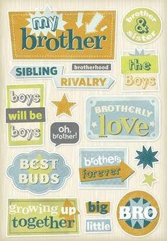 Brothers Forever - Cardstock Scrapbooking Stickers