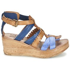 Airstep / A.S.98 NOA Marine / marron - Livraison Gratuite avec Spartoo.com ! - Chaussures Sandale Femme 199,00 €