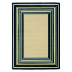 Only $100 - matches the green for the liven room and blue in the kitchen  Roxy Indoor/Outdoor Area Rug - Cream