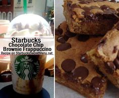 Starbucks Chocolate Chip Brownie Frappuccino! #StarbucksSecretMenu Recipe here: http://starbuckssecretmenu.net/starbucks-secret-menu-chocolate-chip-brownie-frappuccino/