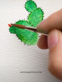 Do you guys like cactus Here s the short video about how to paint cactus in an easy way Shop the watercolor items at 3 with code Save it if you like it - Tree Watercolor Painting, Watercolor Paintings For Beginners, Watercolor Cactus, Easy Watercolor, Painting & Drawing, Art Drawings Sketches, Art Tutorials, Parenting Ideas, Art Projects