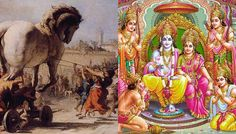 Both of these wars were fought for a woman. Ravana kidnapped Sita in the Rayamana and Helen ran away with Paris causing the Trojan War. Trojan War, Indian Gods, Greek Mythology, Paris, History, Nature, Woman, Painting, Costumes