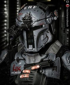 Because who doesn't want Mandalorian armor?! Photo by @hecklerandkoch - - - #wytac #wyvernoutfitters #guns #survival #facemask #balistic #tuesday #bugout #starwars #bobafett #stormtrooper #hecklerandkoch #shooting #military #armor #gearup #prepping