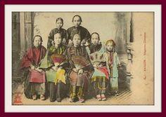 Жители Французского Индокитая на старых открытках