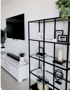 Pinterest: @emilyplumacher Home Accents, Black Accents, Gray Living Room Decor Ideas, Living Room Inspiration, Bedroom Decor, Home Decor Inspiration, Living Room Designs, Ikea Vittsjo, Living Area