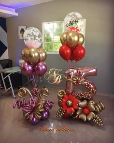 Birthday Balloon Decorations, Balloon Centerpieces, Balloon Decorations Party, Balloon Garland, Birthday Balloons, Congratulations Balloons, Balloon Bouquet Delivery, Minnie Mouse Balloons, Balloon Display
