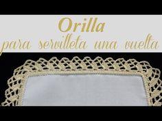 ORILLA PARA SERVILLETA DE UNA VUELTA   Tissu
