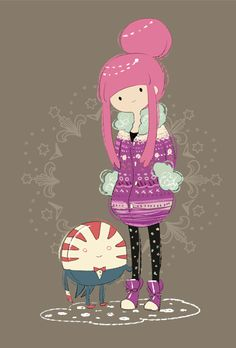 Princess Bubblegum and peppermint butler... They have the same initials.