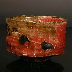 Copper red Chawan