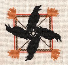 Samhain Ravens Reflections Counted Cross Stitch or Needlepoint Chart Design is 70 stitches by 70 stitches, chart is full color. Listing is for a PDF of Chart ONLY. IMMEDIATE DOWNLOAD PDF upon completed payment. If you need a printed version shipped to you please CONVO me and I will set up a custom listing. This listing is for the PDF only. Check out my other Wheel of the Year counted cross stitch designs. This is an original design by CT Hebling, professional needlework designer. This pa...
