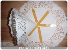 Pompon napperon papier - the bride next door (6)