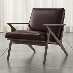 Cavett Leather Chair, similar to the ones you like from 1stdibs (they make them in linen in addition to leather)
