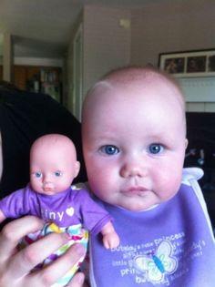 Малыши, похожие на своих кукол (32 фото)