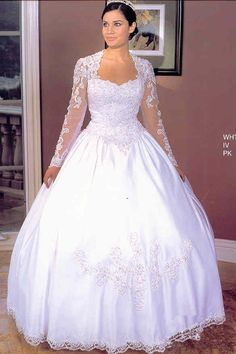 Wedding Gowns 4448 Sweetheart with Lace! LONG SLEEVES