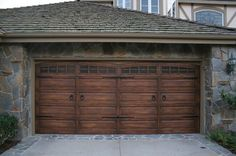 fake wood garage doors | Wood & Furniture Finishes (Faux) traditional garage and shed