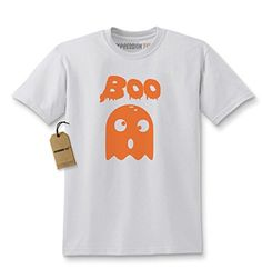 Kids BOO Funny Ghost Halloween T-Shirt X-Large White * More details @