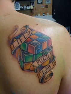 25 Smart Puzzle Tattoo Designs