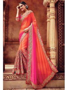 Shaded+Pink+with+Orange+Color+Embroider+Designer+Party+Wear+Saree   #indianfashion #dress #latepost #australia #indiandesigner #punjabisuit #pakistanifashion #anarkali #indianweddings #punjabiwedding #tamilbride #bridallengha #southasianbrides  #lehenga #pakistan #india #newyork #fashion #designer #kareenakapoor #bridalshower #weddingdress #weddings #henna #inspiration #indian #dubai #southindian #london #shopping