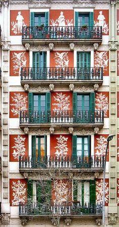Facade Eixample, Barcelona.