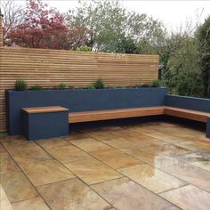 Raised beds planted with herbs. Hardwood bench and… - # corner # Hartho…- Raised beds planted with herbs. Hardwood bench and… – Raised beds planted with herbs. Hardwood bench and… – Plants For Raised Beds, Raised Garden Beds, Raised Patio, Garden Fences, Garden Soil, Garden Planters, Small Gardens, Outdoor Gardens, Front Gardens