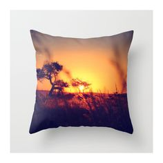 African/Sunset Throw Pillow Cover Home/Office Decor by VQSTUDIO, $38.00