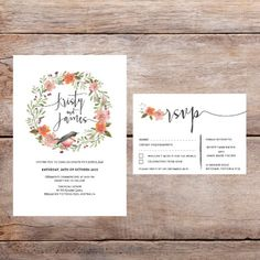 """More watercolour designs that you can get simply by replacing it with your details!  #wedding #weddingdeals #weddinginvites #weddingstationery #events #watercolour #rsvp"""