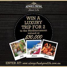 Win a trip to the Mediterranean!