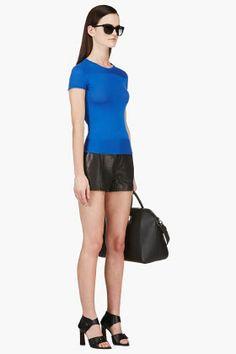 CALVIN KLEIN COLLECTION Cobalt Blue Fine-Knit Sweater