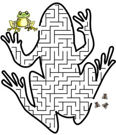 Print out a maze to do with the kids on Leap day.