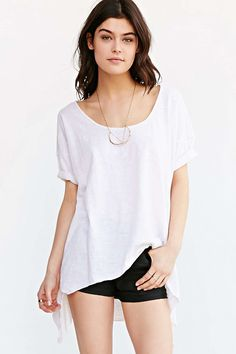 Truly Madly Deeply Godet Tunic Tee