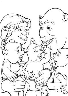 Shrek Kleurplaten voor kinderen. Kleurplaat en afdrukken tekenen nº 36