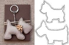 lovely felt dog patterns, for key ring or i can image the poodle hanging from a Paris bag as a charm, so cute 20 moldes que vc precisa ter Free sewing pattern for doggie keychains Fifi the French Poodle - made of felt and pom poms Hay q probaaaar! Sewing Toys, Sewing Crafts, Sewing Projects, Craft Projects, Felt Crafts Patterns, Fabric Crafts, Felt Christmas, Christmas Crafts, Hobbies And Crafts