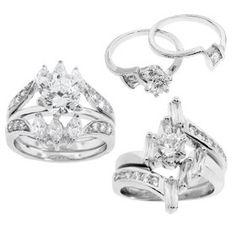 2-Piece Wedding Rings by Lauren Lee