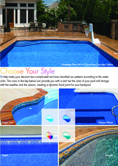 Dark Blue Pool Water sand colored vinyl pool liner | medium coloured liners | pools